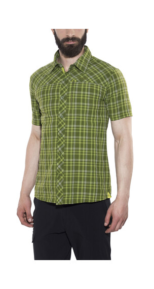 Bergans Langli SS Shirt Men Green Tea Check